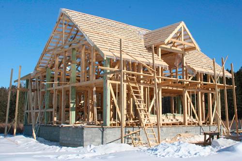 Строительство каркасных домов с фото
